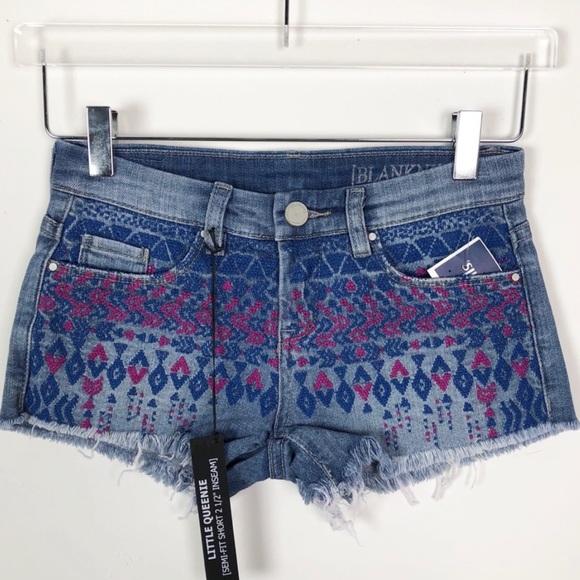 98e68e961f Blank NYC Shorts | Embroidered And Frayed Jean | Poshmark